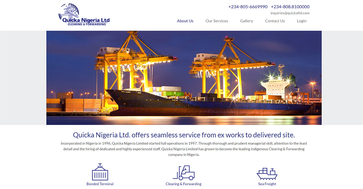 Sea Freight   Quicka Nigeria Ltd